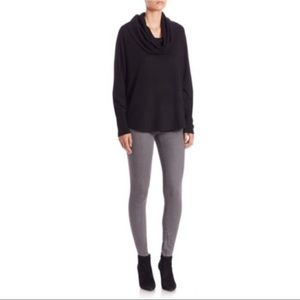Joie Wesley Black Cowl Neck Long Sleeve Sweater